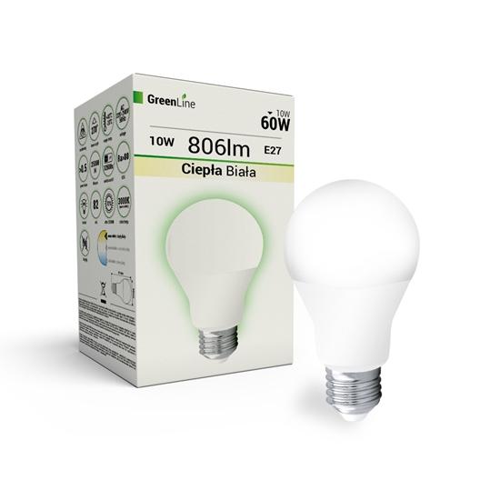 Lampa  LED E27 12W  A60 3000K Greenline