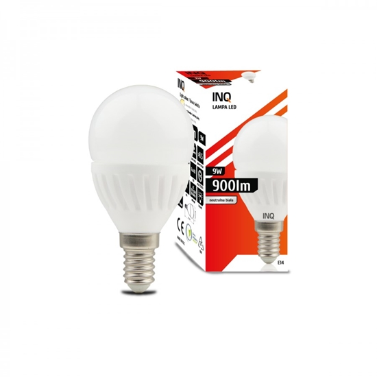 LAMPA  G45  E14 LED PROFI  9 KULKA 900lm 4000K CERAMIKA  INQ