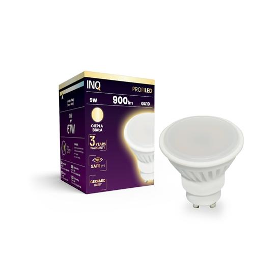 LAMPA LED  GU10 PROFI  LED 9  3000K 900lm ceramika INQ