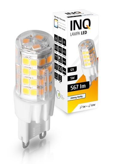 LAMPA LED G9  5W 520 LM BIAŁY ZIMNY 6000K PC INQ