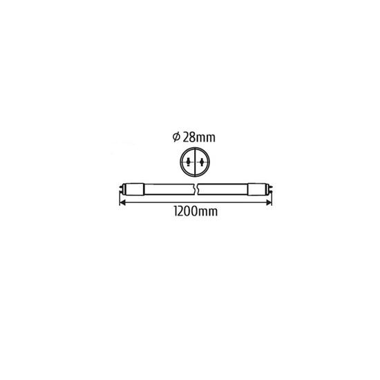 ŚWIETLÓWKA LED TUBA  120cm  zas.jednostronnie 4000K 18W  1800lm T8  szkło  INQ