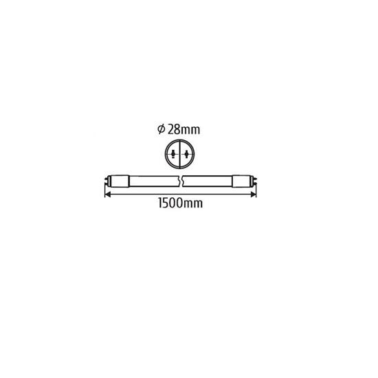 ŚWIETLÓWKA LED TUBA  150cm  zas.jednostronnie 6000K 22W  2200lm T8  szkło  INQ