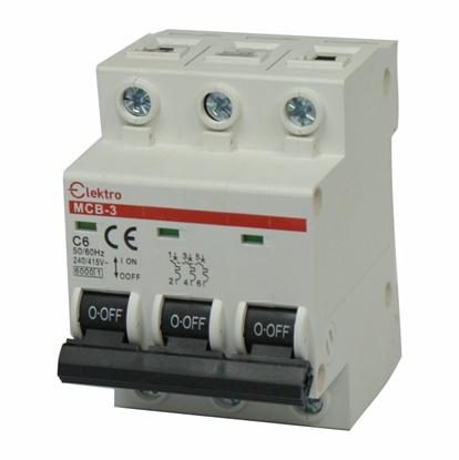 Wyłącznik N-P 3P C  6A