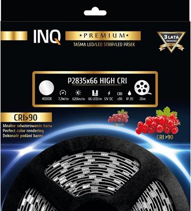 Taśma LED P2835x66 7,2W 620lm/m 4000K IP20 RA90 20m INQ