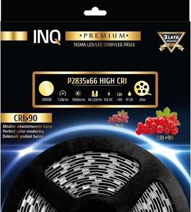 Taśma LED P2835x66 7,2W 580lm/m 3000K IP20 RA90 20m INQ