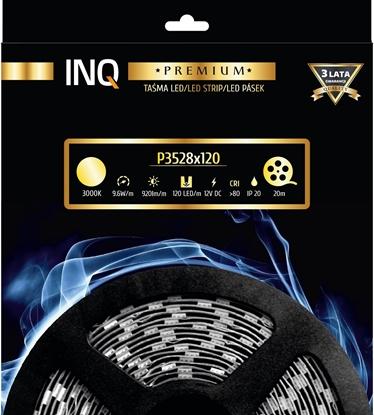 Taśma LED P3528x120 9,6W 920lm/m 3000K IP20 RA80 20m INQ