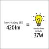 Taśma LED P3528x60 4,8W 420lm/m 4000K IP65 RA80 5m INQ