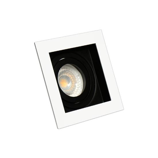 Oprawa OZZO RENE1 222-W/B podtynkowa biało-czarna 1xGU10