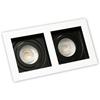 Oprawa OZZO RENE2 222-W/B podtynkowa biało-czarna 2xGU10 DZIELONA