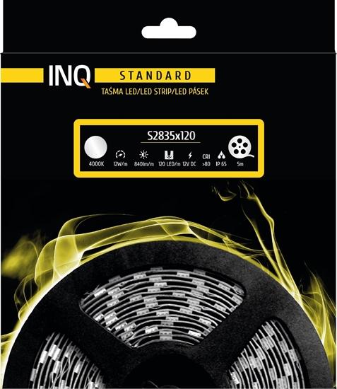 Taśma LED S2835x120 12W 840lm/m 4000K IP65 RA80 5m INQ
