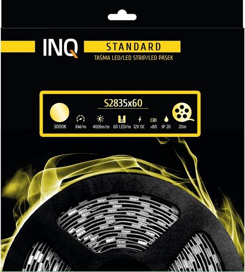 Taśma LED S2835x60 6W 400lm/m 3000K IP20 RA80 20m INQ
