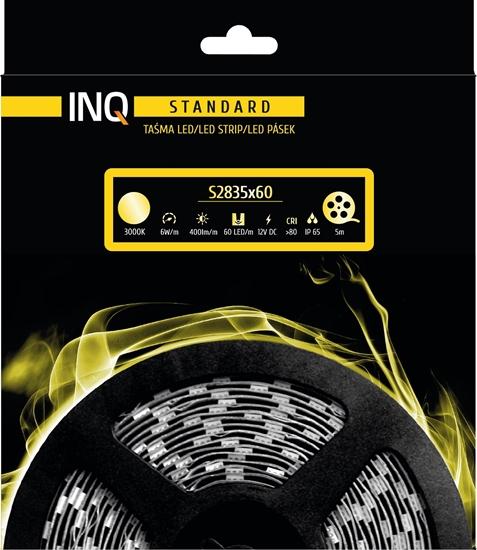 Taśma LED S2835x60 6W 400lm/m 3000K IP65 RA80 5M INQ