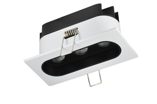 Oprawa Zara3535 podtynkowa biało-czarna