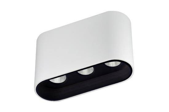 Oprawa Zara3537 natynkowa biało-czarna wys.6,4cm