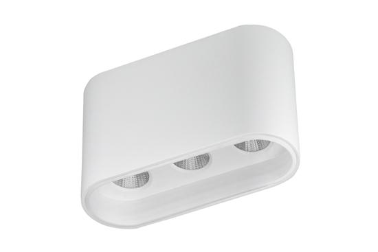 Oprawa Zara3538 natynkowa biało-biała wys.6,4cm