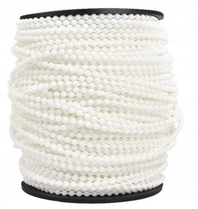 Łańcuszek do rolet rolety 3,2 biały plus łączniki