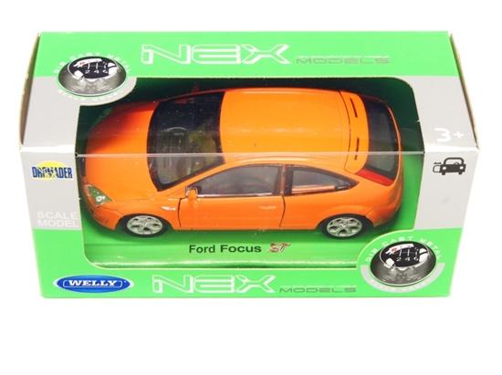 Welly 1:34 Ford Focus ST pomarańczowy