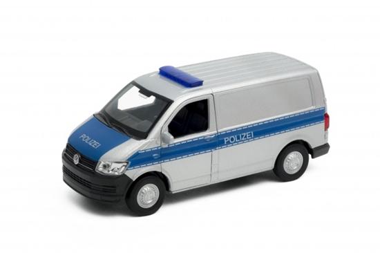 Welly 1:34 Volkswagen T6 VAN POLIZEI srebrny