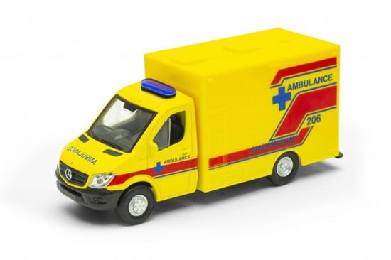 Welly 1:34 Mercedes Sprinter Ambulance żółty