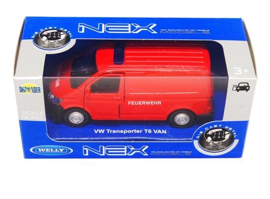 Welly 1:34 Volkswagen T6 VAN FEUERWEHR czerwony
