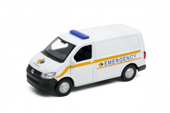 Welly 1:34 Volkswagen T6 VAN EMERGENCY biały
