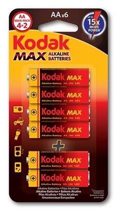 A.KODAK BATERIA LR6 MAX KAA-(4+2) - BL6