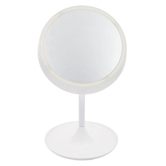 Lampka LED z lusterkiem DREAM Nilsen Biała