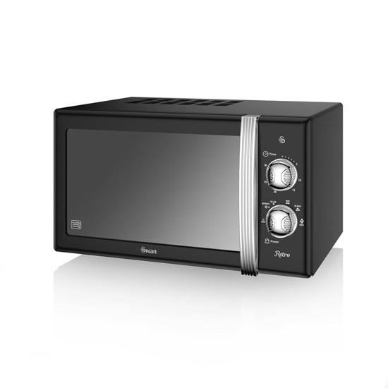 KUCHENKA MIKROFALOWA Manual Microwave BLACK
