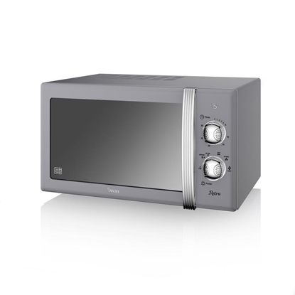 KUCHENKA MIKROFALOWA Manual Microwave GREY