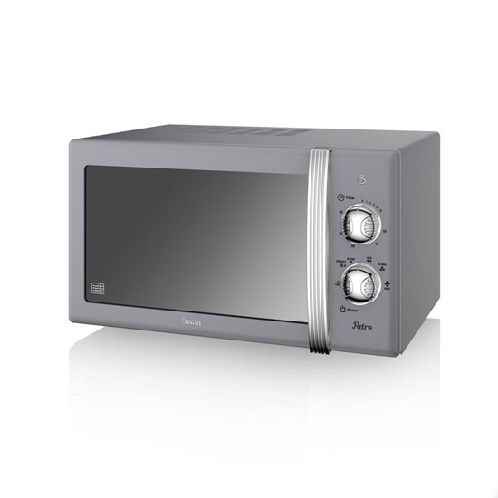 KUCHENKA MIKROFALOWA Manual Microwave GREY
