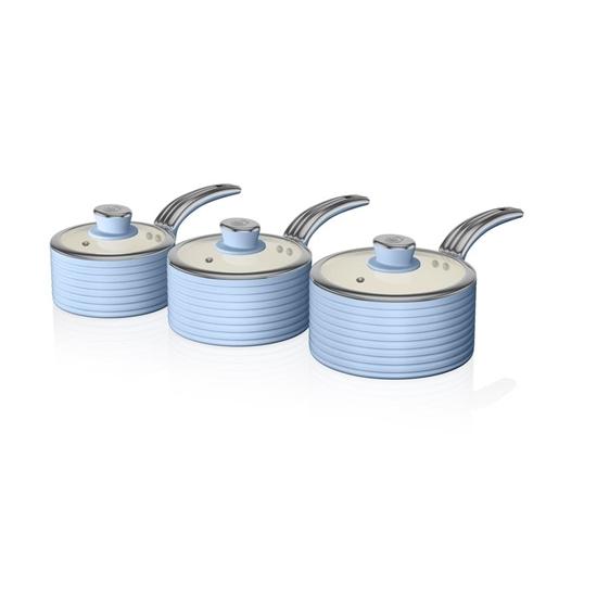 ZESTAW 3 RONDLI Saucepan Set BLUE