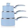 ZESTAW 3 RONDLE +2 PATELNIE  Pan Set BLUE
