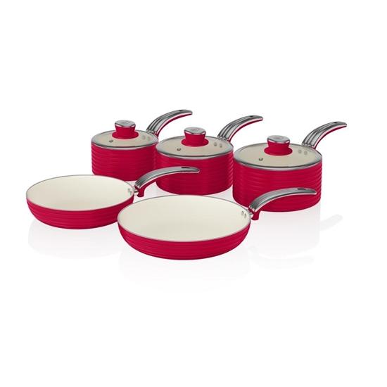 ZESTAW 3 RONDLE +2 PATELNIE  Pan Set RED