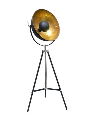 Metalowa lampa stojąca czarna Zumaline ANTENNE