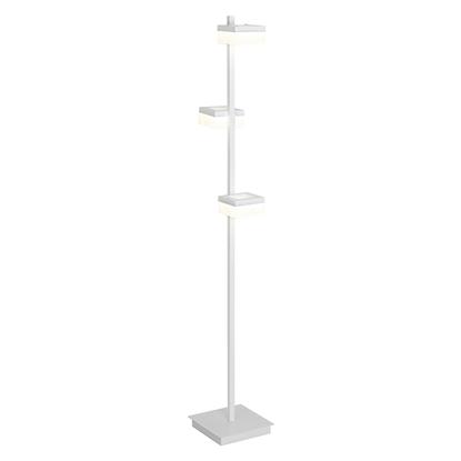 Akrylowa lampa podłogowa biała LED Milagro CUBO