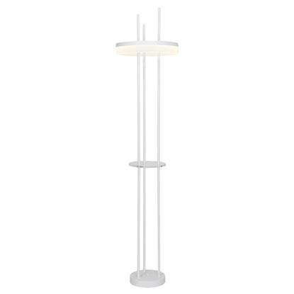 Akrylowa lampa podłogowa biała LED Milagro RING