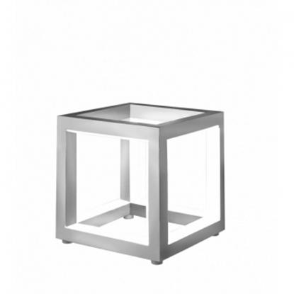 Aluminiowa lampa podłogowa srebrna LED Sompex DELUX