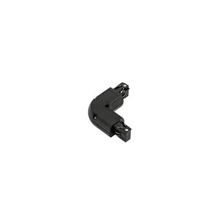Czarna łącznik do szyny Italux 4 phase track - L joint - black