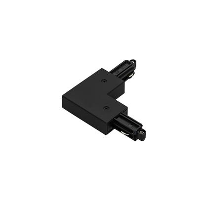 Czarna łącznik do szyny Italux 1-circuit L type connector black I