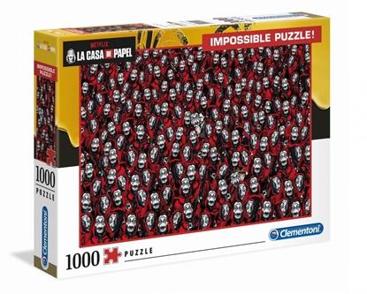 Clementoni Puzzle 1000el Impossible Dom z papieru. La casa de papel 39527 (39527 CLEMENTONI)