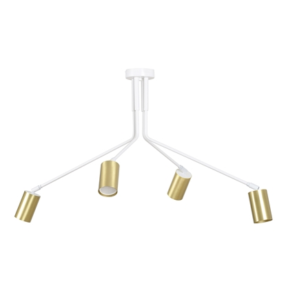 Biała lampa sufitowa do biura Emibig VERNO 656/4