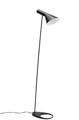 Aluminiowa lampa podłogowa czarna King Home FONO