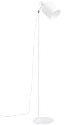 Aluminiowa lampa podłogowa biała King Home LEKTOR