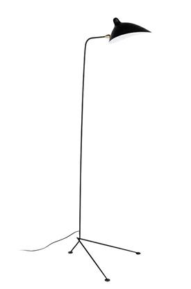 Aluminiowa lampa podłogowa czarna King Home RAVEN