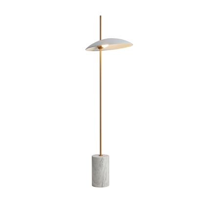 Aluminiowa lampa podłogowa biała LED Italux Vilai