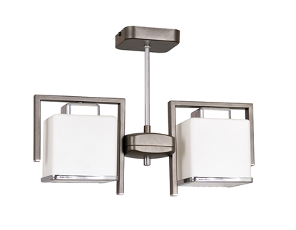 Brązowa lampa podsufitowa do sypialni Emibig CUBE 595/2