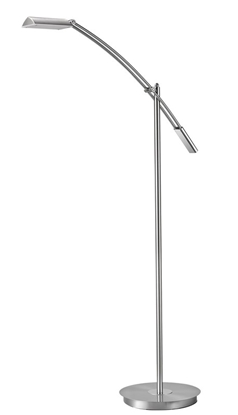 Akrylowa lampa podłogowa satynowa ledowa Trio VERONA