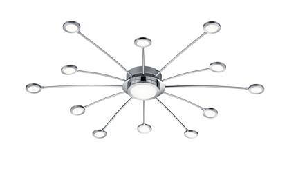 Chrom lampa sufitowa LED do salonu Trio BODRUM 673311306