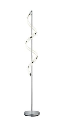 Akrylowa lampa stojąca chrom LED Trio SYDNEY