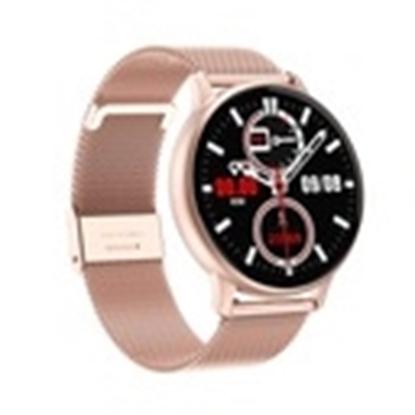 SD25/1-DT88 PROMIS, Smartwatch damski,złota koperta,złota metalowa bransoleta